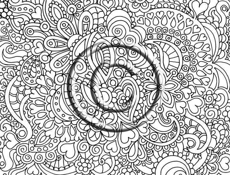 psychedelia free colouring pages