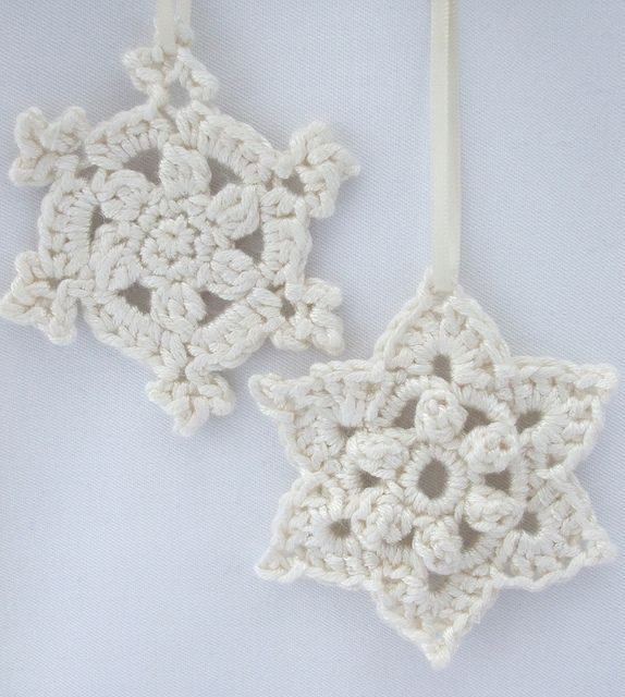 Crochet Snowflake : Crochet snowflake patterns CHRISTMAS ORNAMENTS/APPLIQUES.. .CROCHET ...