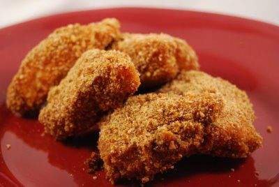 Oven fried, honey chicken nuggets, for my husband who has the culinary ...