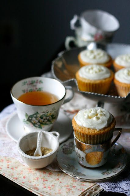 white chocolate honey chamomile cupcakes | It's all about TEA for me ...