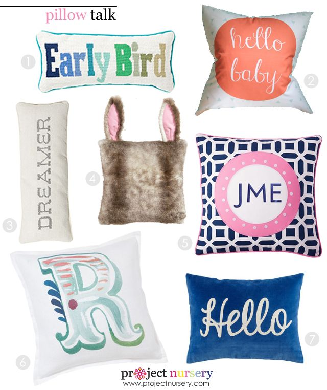 Nursery Throw Pillows Round-Up - here are some of our favorites! #nursery #pillows #kidsroom