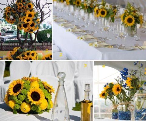 Sunflower Wedding Decorations | sunflower wedding flowers inspiration #flowers #wedding