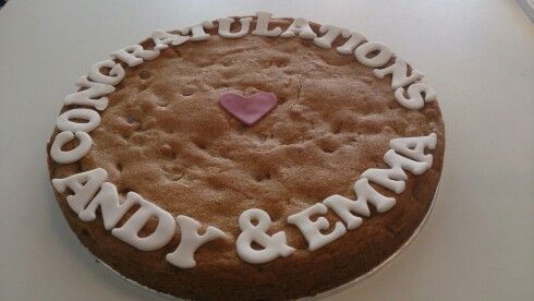 Giant cookie Cake Decorating Ideas Pinterest