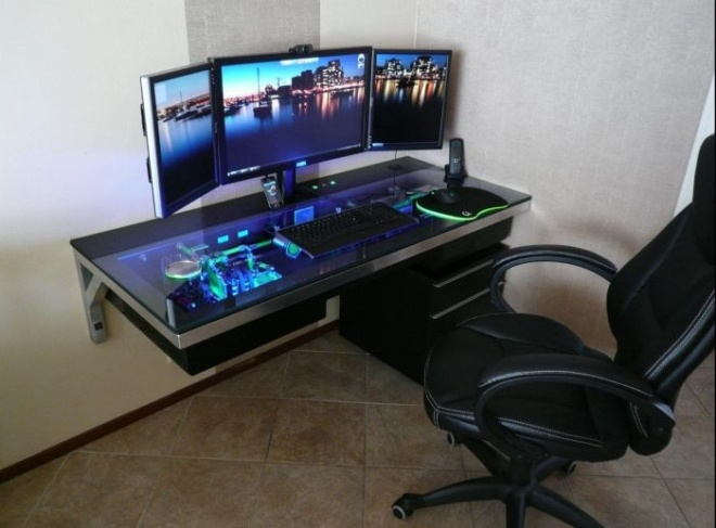awesome computer desk dream home pinterest