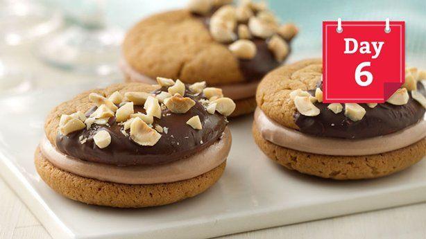 Chocolate-Hazelnut-Peanut Butter Sandwich Cookies | Recipe