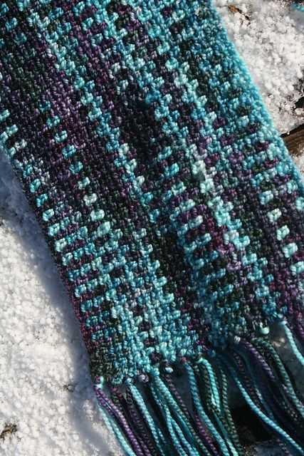 Crochet Linen Stitch : linen stitch scarf. free at ravelry. Just For Fun Pinterest