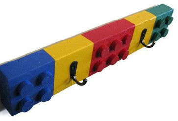 Lego Deluxe Chunky Style Coat Rack by Happywood Goods - eclectic - kids decor - - by Etsy