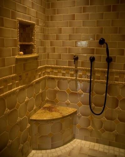 tile shower hogar dulce hogar pinterest