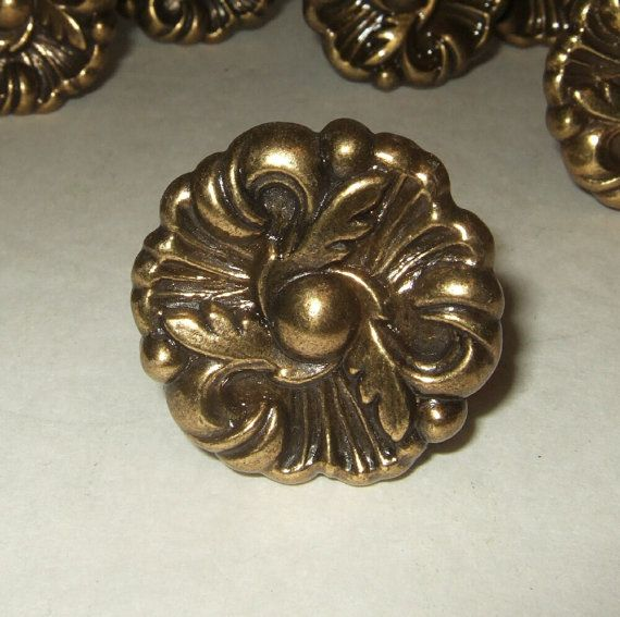 Vintage Knobs Cabinet Pulls French Provincial Cabinet