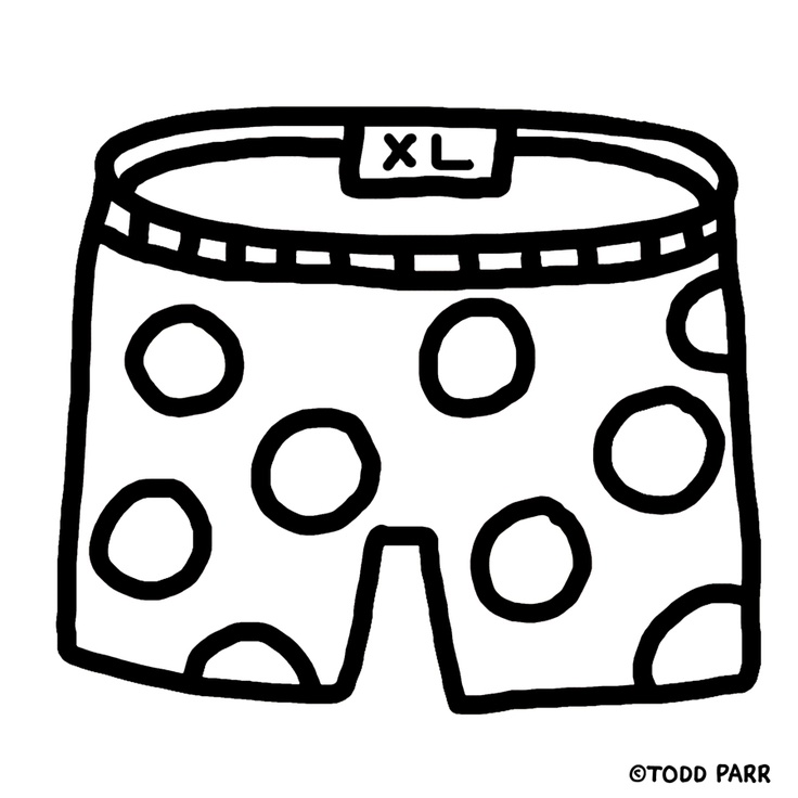 coloring pages underwear - photo#2