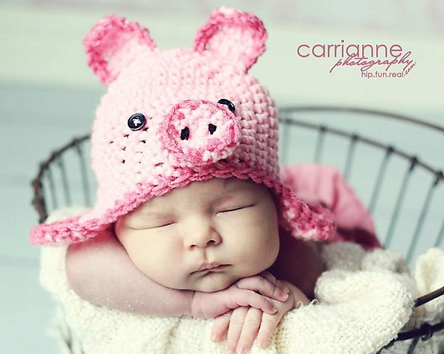 Pig Hat Crochet Pattern
