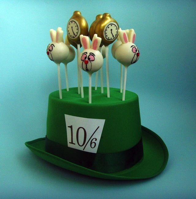 alice in wonderland cake pop