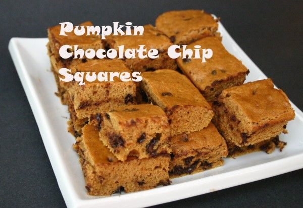 ... Enjoy this quick and easy recipe for Pumpkin Chocolate Chip Squares