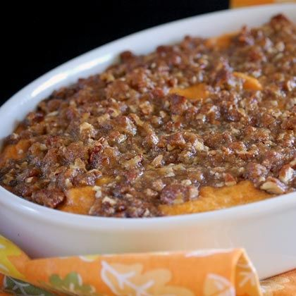 Sweet Potato Soufflé Use almond or coconut flour