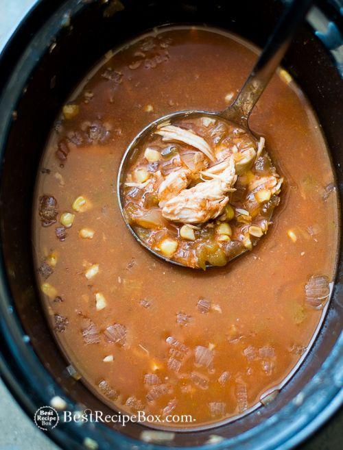 Slow Cooker Chicken Tortilla Soup- So easy & better than a restaurant ...