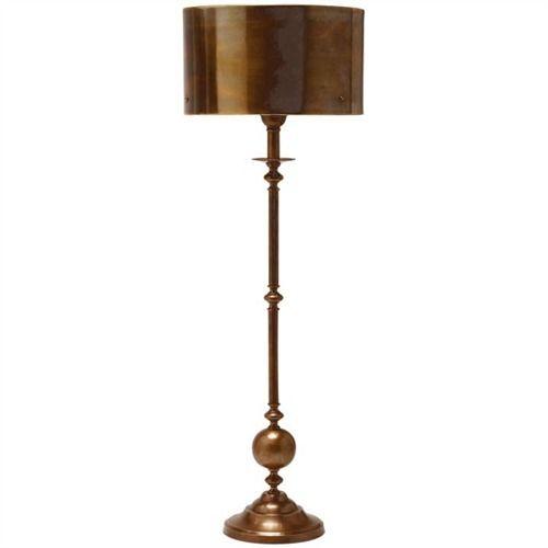 Antique brass candlestick lamp