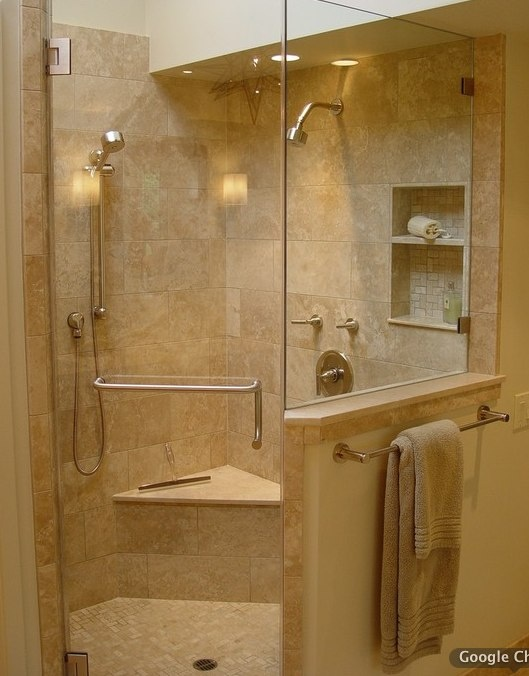 Corner Shower Tile For The Home Pinterest