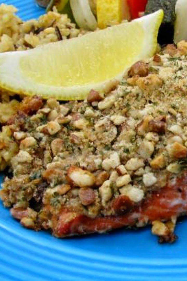 Baklava Salmon (Salmon With Honey, Butter, Walnuts, and Mustard)