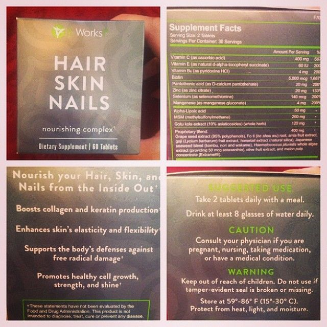 It Works Hair, Skin and Nails has 2500mcg more Biotin than Hairfinity ...