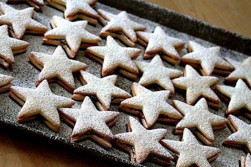 Raspberry Star cookies   Stars.   Pinterest
