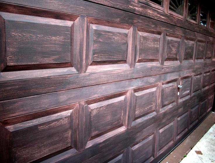 Steel Garage Doors With The Wood Look Hardware Trim