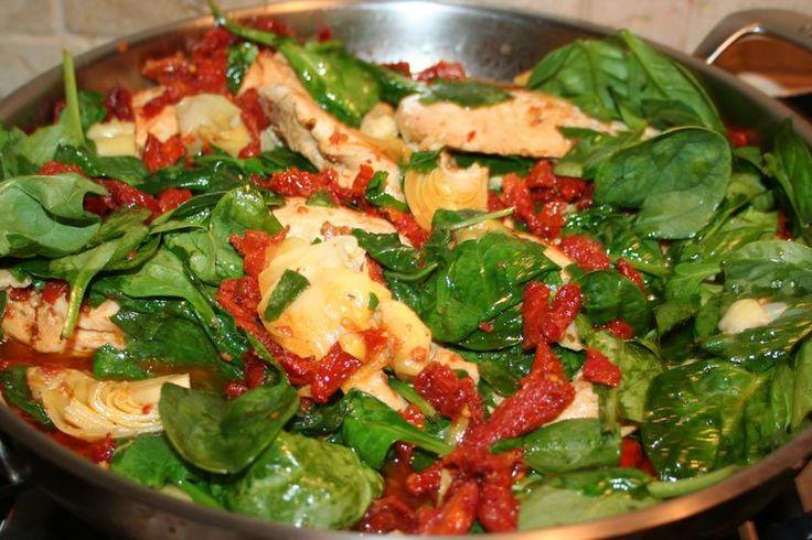 easy and SUPER delicious Sun-dried Tomato Chicken with Artichokes ...