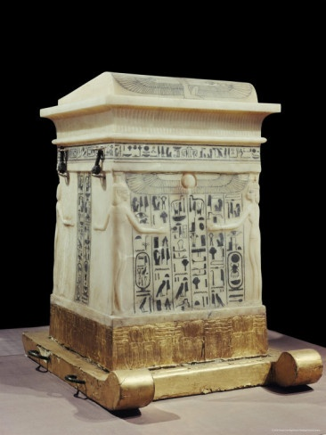Alabaster Canopic Shrine, from the Tomb of the Pharaoh Tutankhamun, Thebes, Egypt