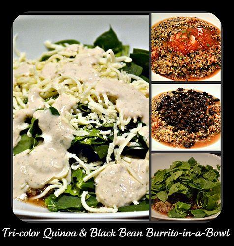 Tri-Color Quinoa and Black Bean Burrito-in-a-Bowl