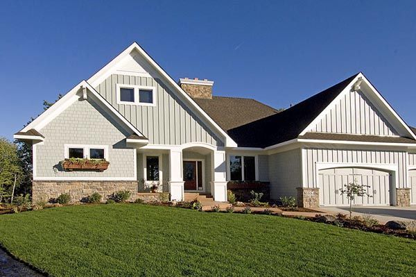 European Ranch Traditional House Plan 42507