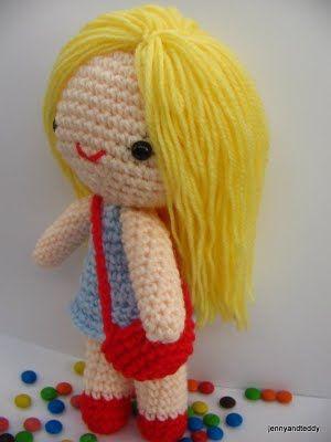 Free amigurumi pattern little girl Kate Crochet ...