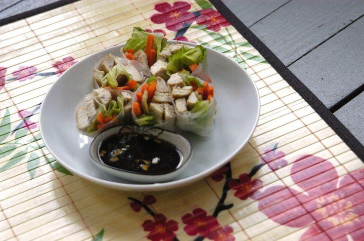 Garlic Chicken Spring Rolls | yummy food | Pinterest