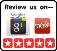 Review us on yelp sign