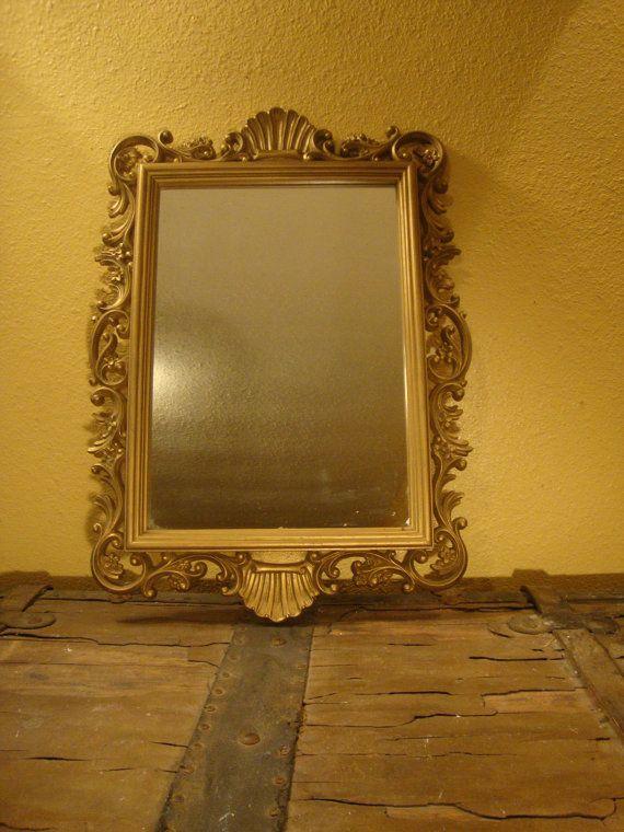 Lovely Vintage Gold Framed Homco Mirror Vintage Home