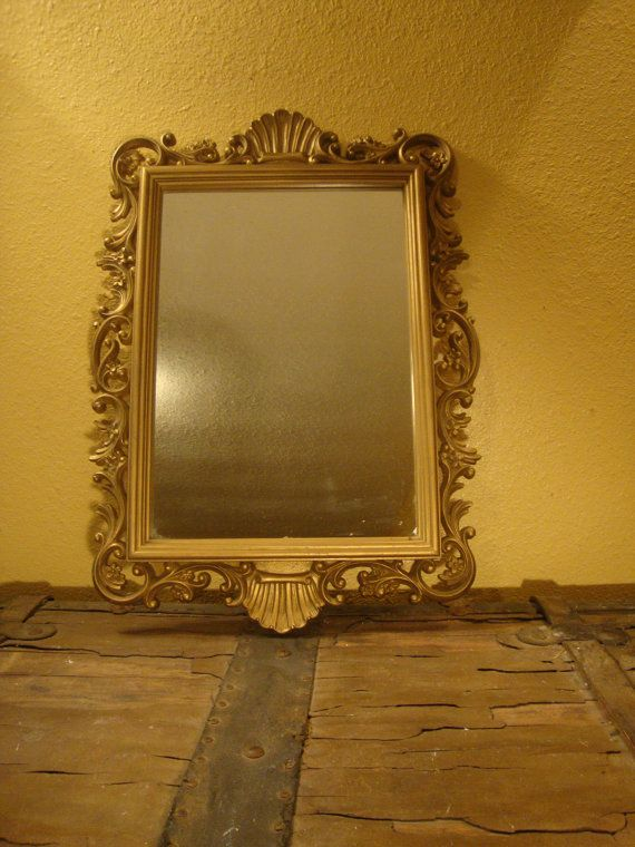 Lovely vintage gold framed homco mirror vintage home for Home interiors and gifts framed art
