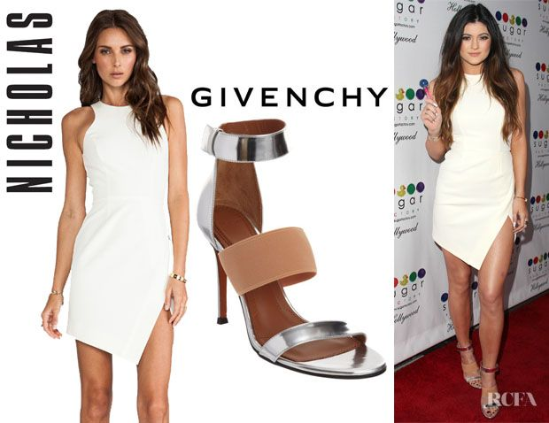 Kylie Jenner s Nicholas Wrap Skirt Dress And Givenchy Banded