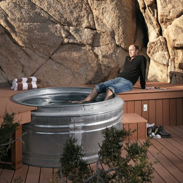 Homemade Hot Tub Island Ideas Pinterest