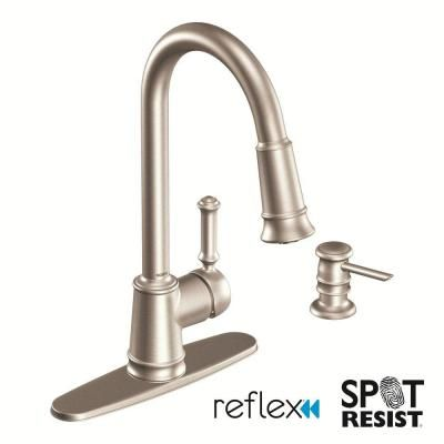 moen kitchen lindley single handle pull down sprayer kitchen appealing bronze kitchen faucets lowes lindley