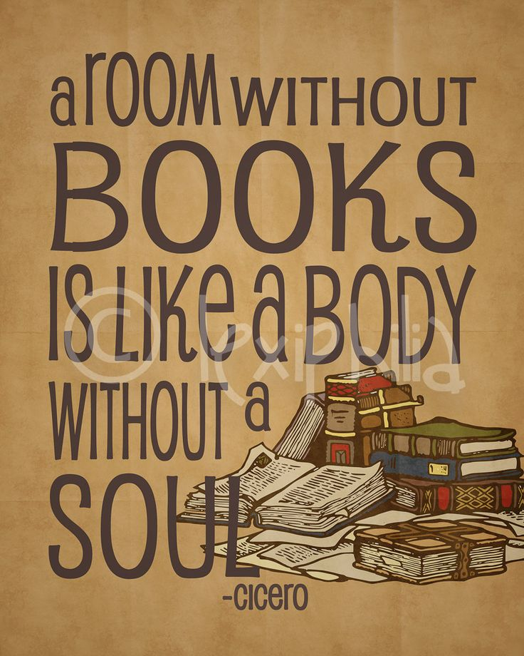 Inspirational Art Quote - Books - Library - A room without ...
