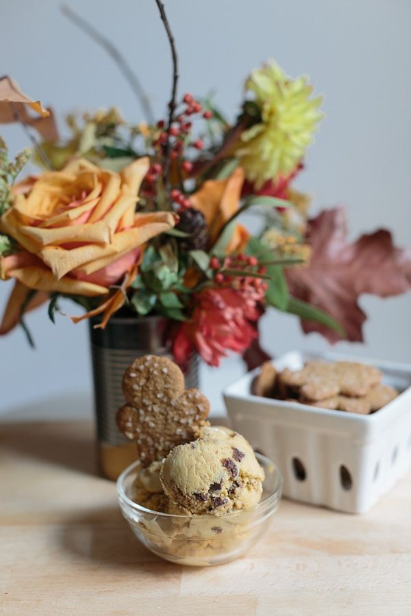 Pumpkin Spice Brownie Ginger Snap Ice Cream | Becca Bakes (www.becca ...