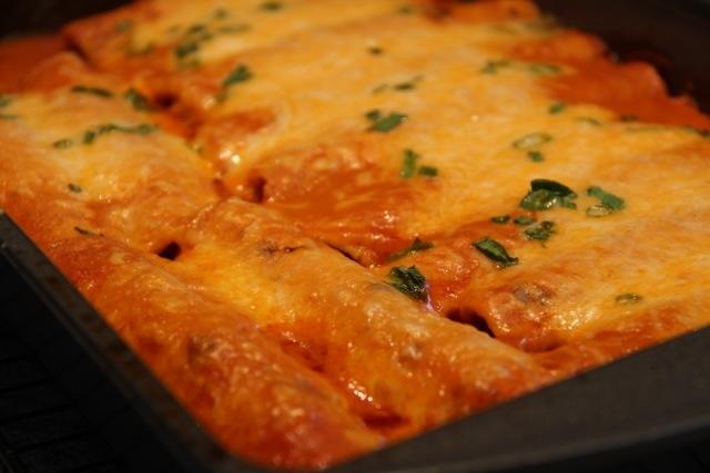 Chicken Enchiladas with Homemade Red Enchilada Sauce | Recipe