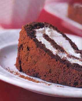 Lighter-Than-Air Chocolate Roll this easy flourless chocolate cake ...