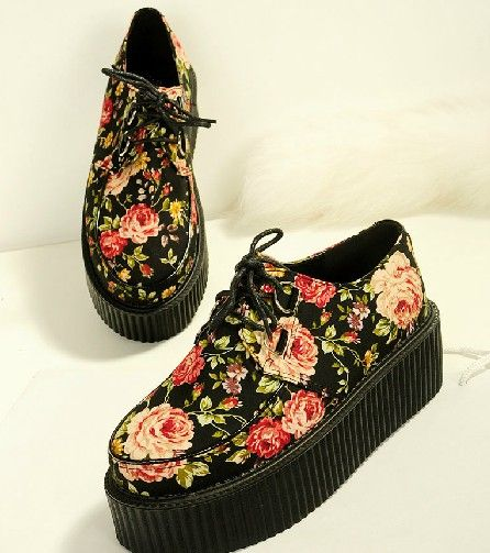 14 Harajuku Floral Platform Shoes | Online Store Powered by Storenvy