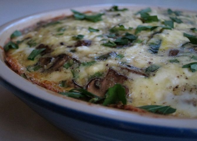 Mushroom + Poblano Tart In Cornmeal Crust Recipe — Dishmaps