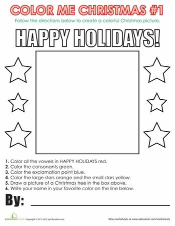 Following Directions Worksheet Christmas   New Calendar Template Site