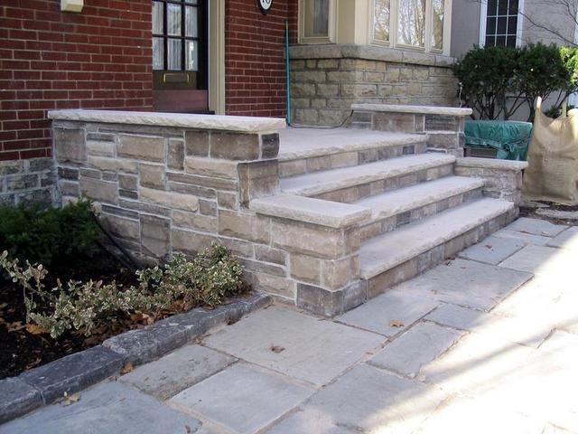Limestone Porch And Walkway For The Home Pinterest