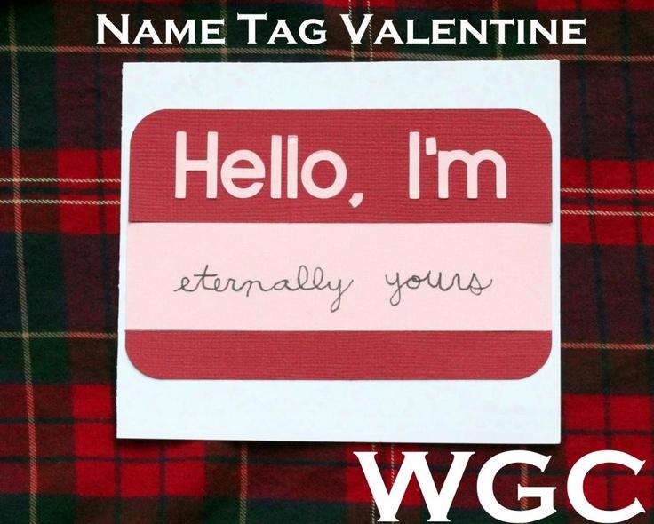 valentine name tag ideas