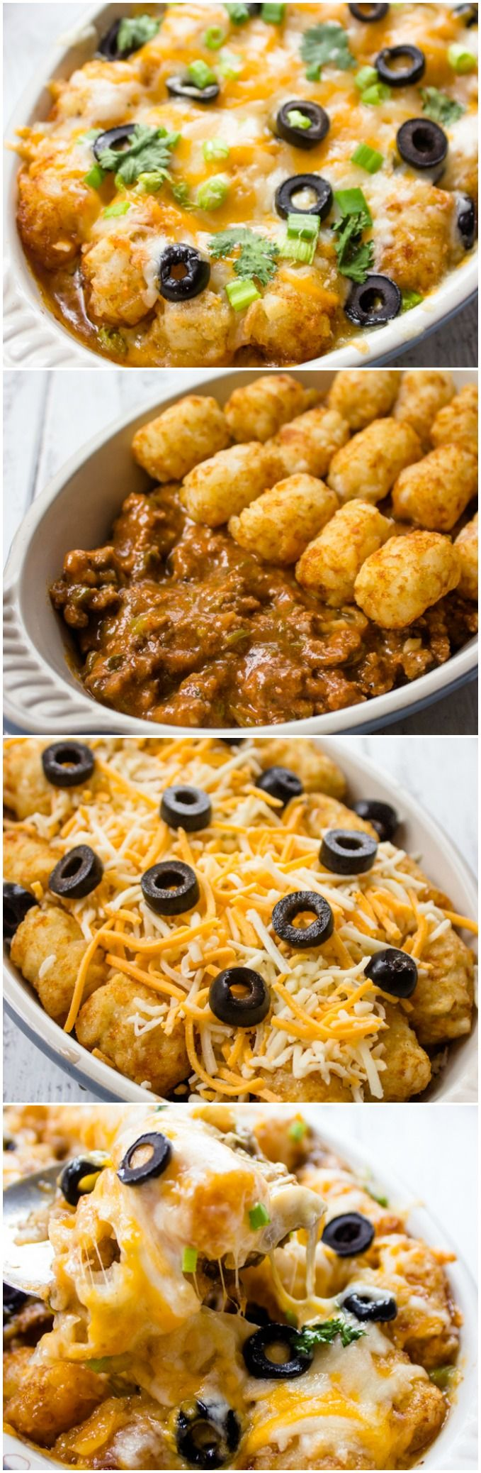 Super easy and Delicious Tater Tot Enchilada Bake