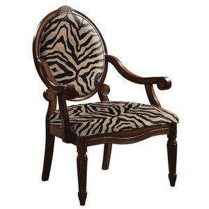 Brentwood Beige Animal Accent Chair | Animal Print Chairs | Pinterest