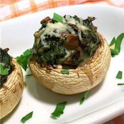 Spinach and bacon stuffed mushrooms | Recipe