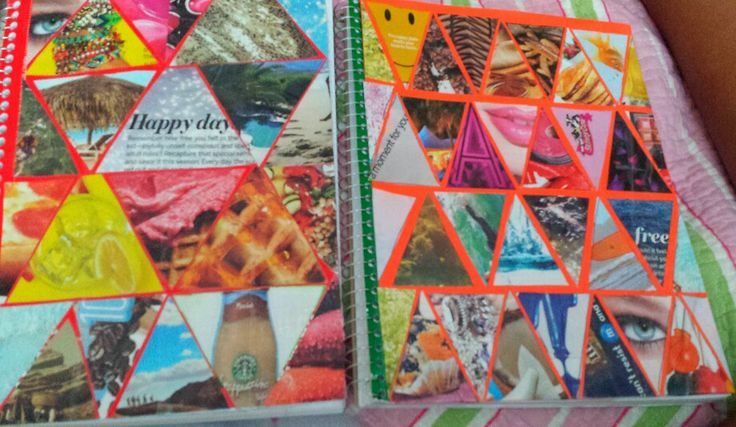 Diy notebook collage id pinterest